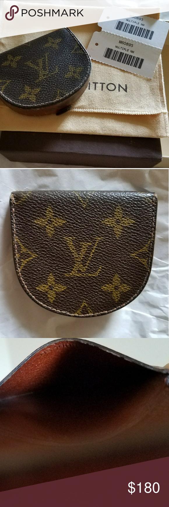8ee1e3f8346 Authentic Louis Vuitton Porte Monnaie Gousset Authentic Louis ...