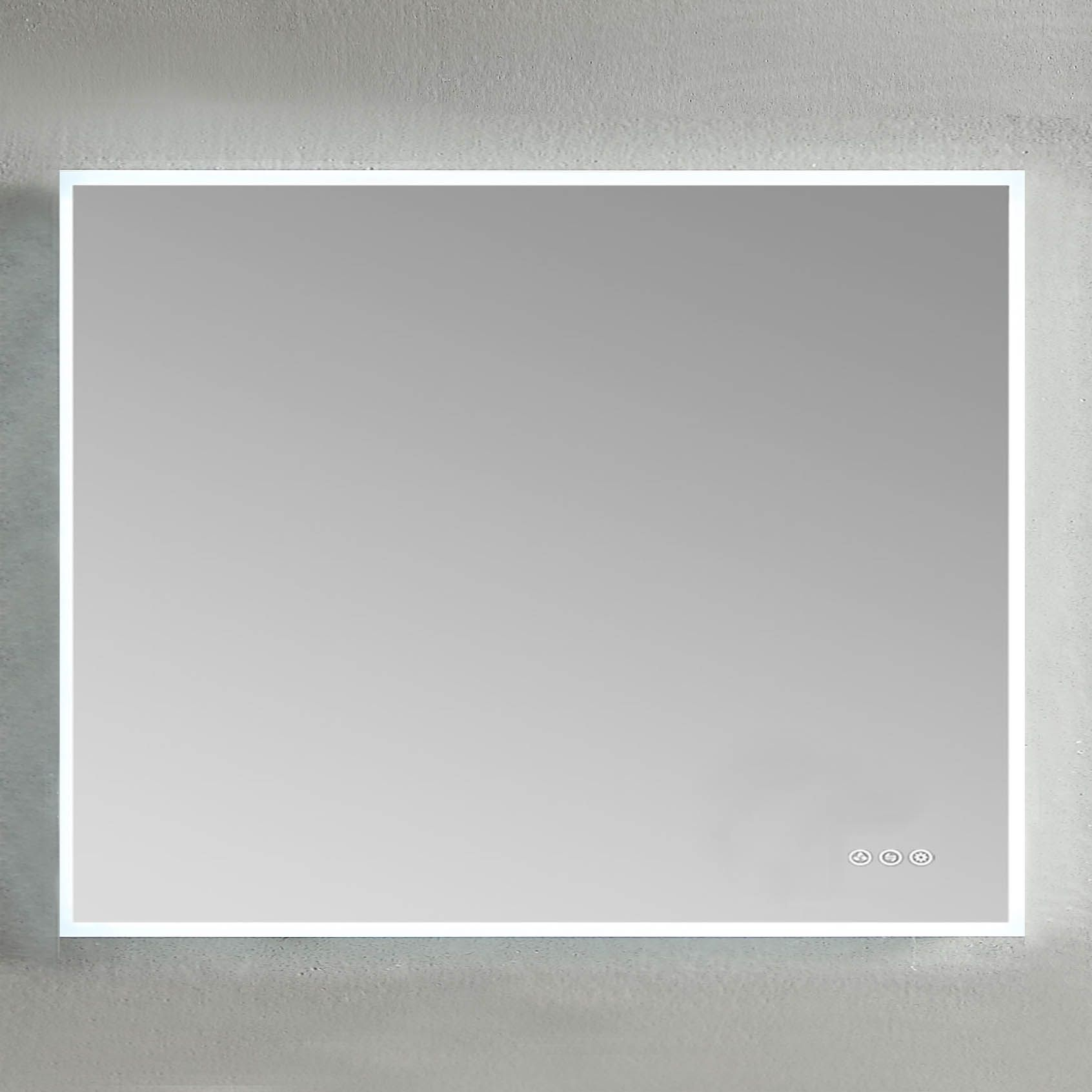 Blossom 36 X 36 Inch Beta Mirror With Light Frosted Sides In 2020 Led Mirror Bathroom Mirror Lighted Medicine Cabinet