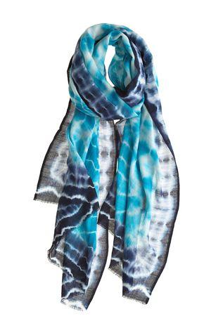 Bindya Blue Tie Dye Scarf At Calypso Tie Dye Scarves Blue Tie Dye Womens Scarves