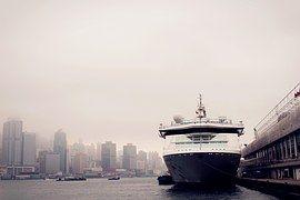 Ferry, Barco, Hong Kong, Crucero