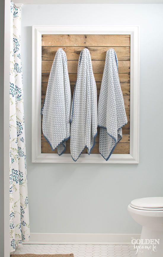 Friday Favorites Are Back Pallet Bathroom Bathroom Towel Storage Diy Towel Rack