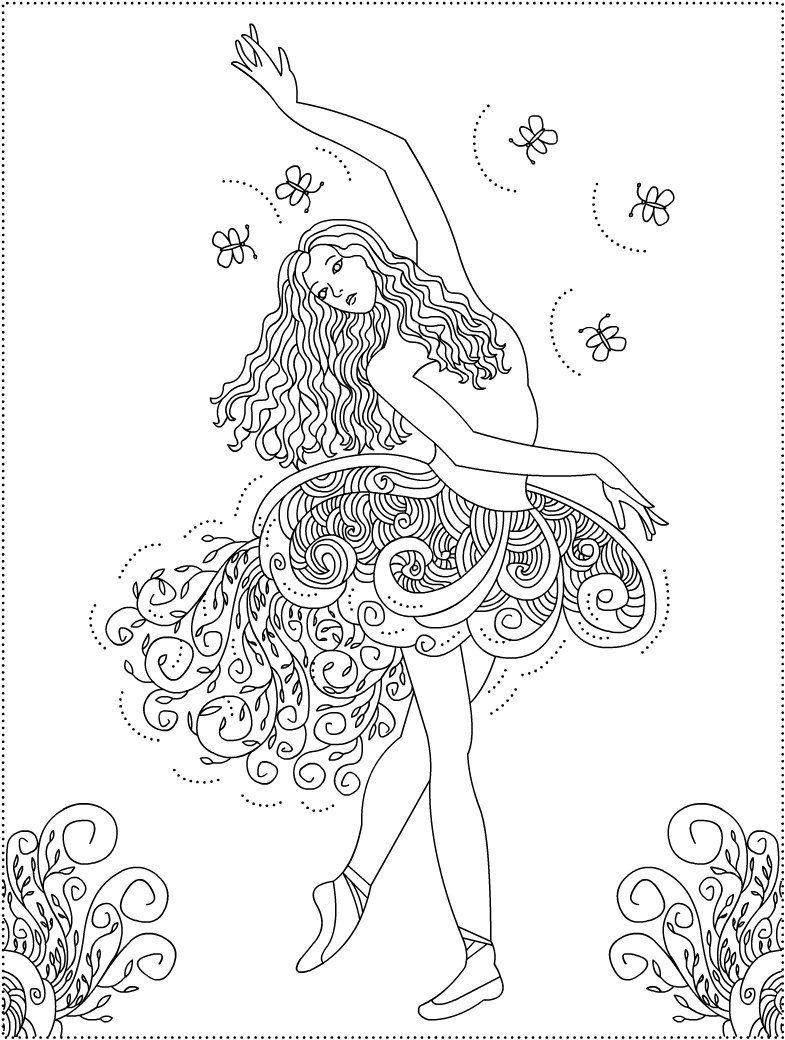 bailarina para colorir mandalas adultos pinterest colored