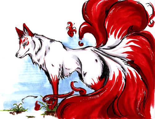 Kitsune Kitsune Fox Fox Art Mythical Creatures Art