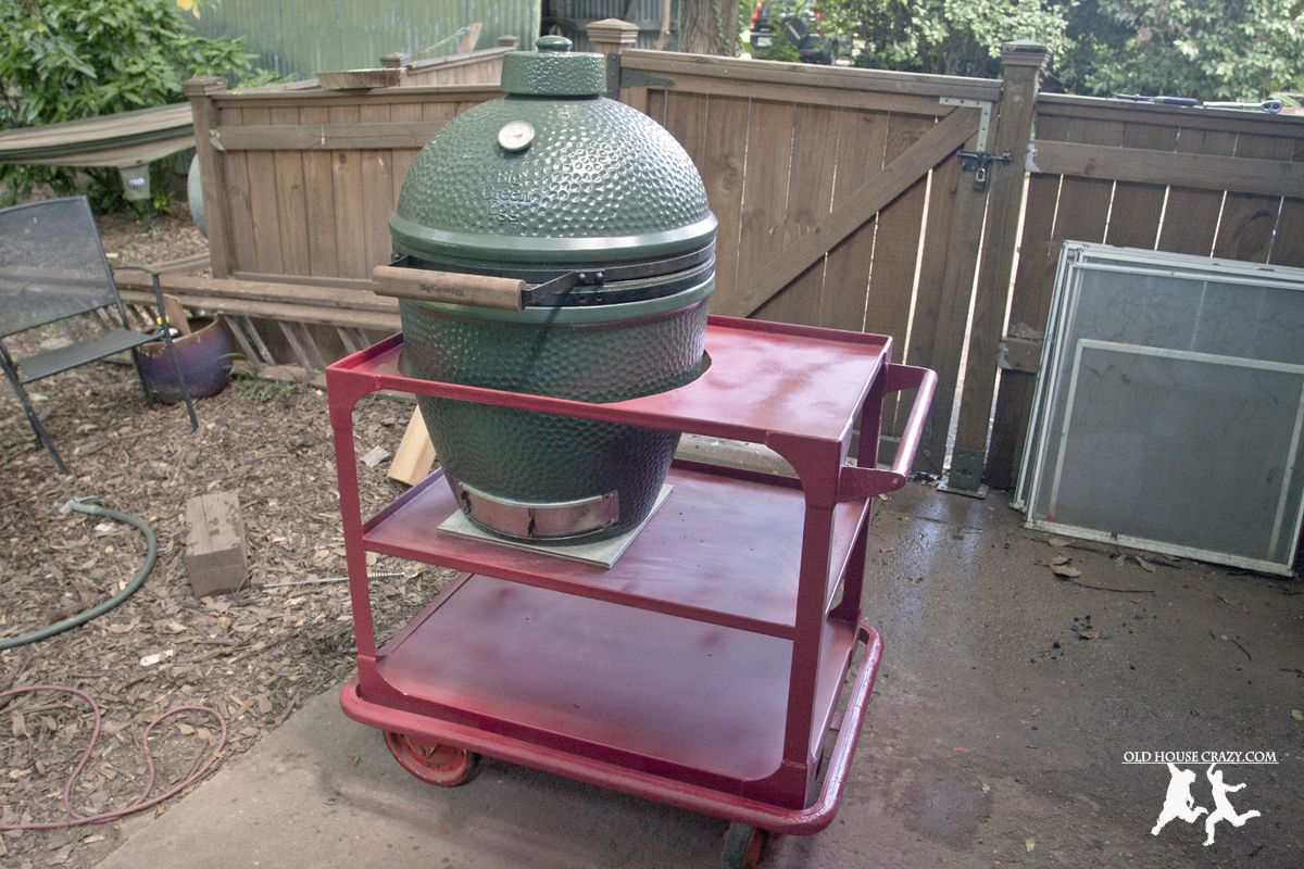 Old House Crazy - DIY - Repurpose Your Own Big Green Egg Cart - 09