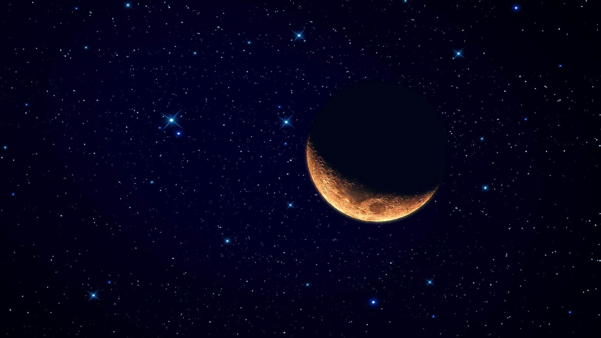Crescent Moon High Quality Wallpaper With High Resolution 1920x1080