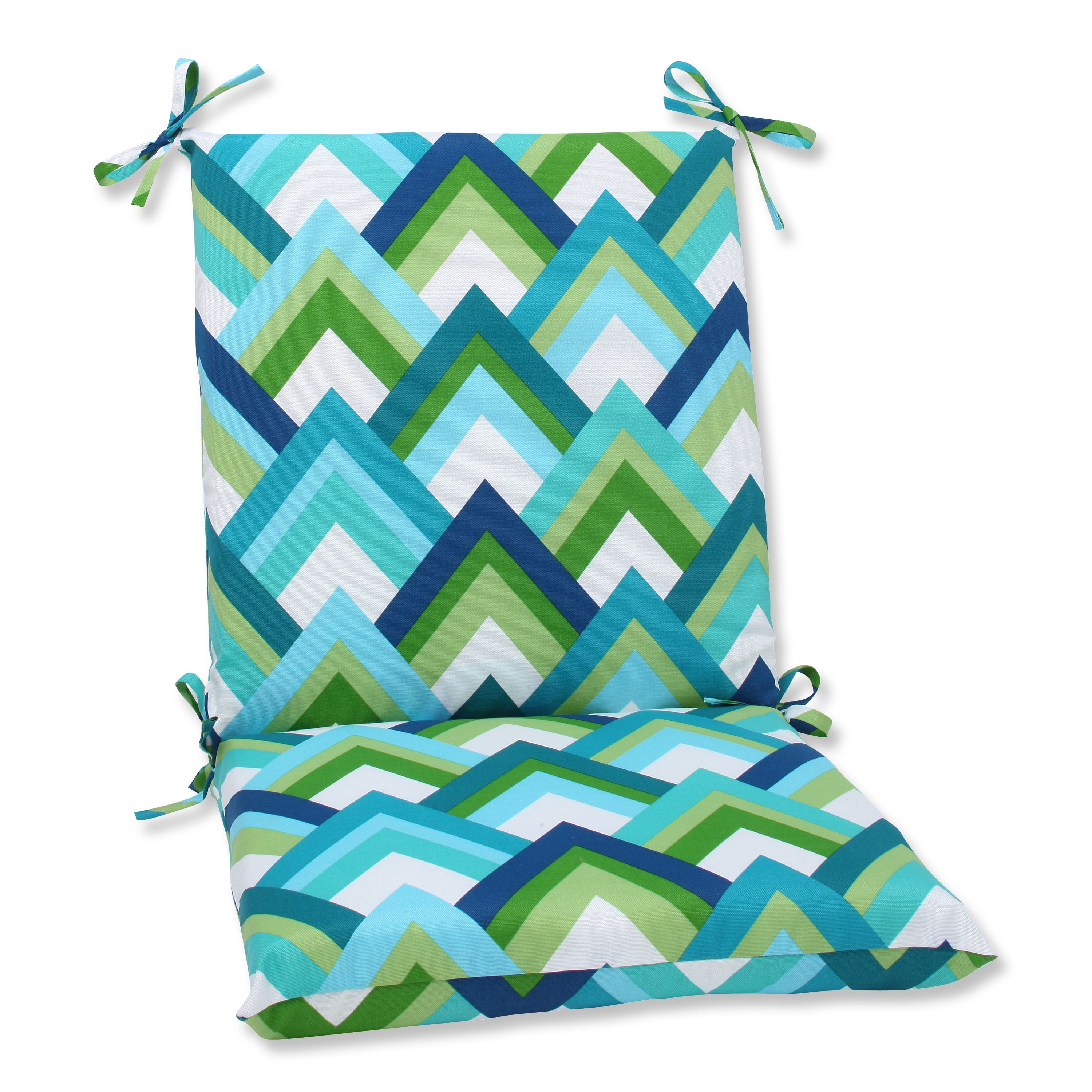 Pillow perfect outdoor resort squared corners chair cushion resort
