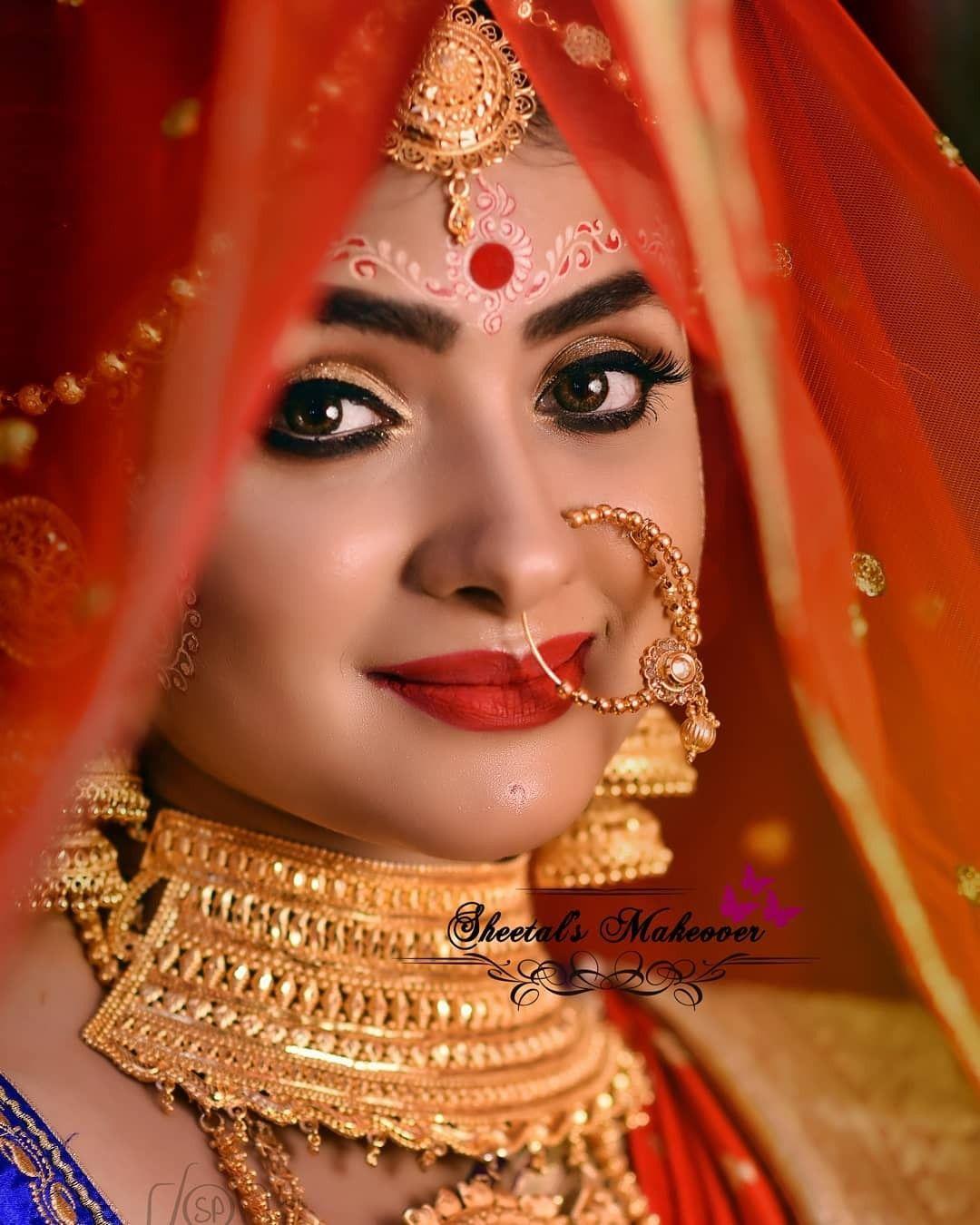 bridalwork#bengalibride#indian bride#bridalmakeup
