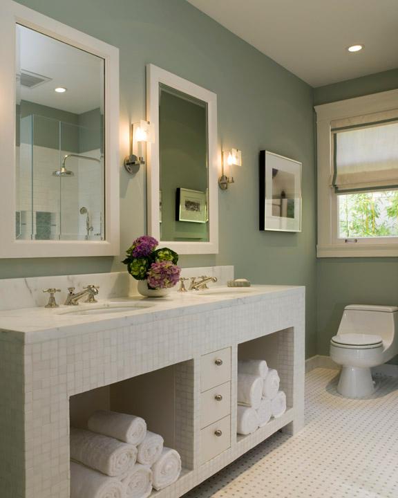 18 Beautiful Sage Green Bathrooms Design Ideas Brasslook Green Bathroom Decor Light Green Bathrooms Green Bathroom