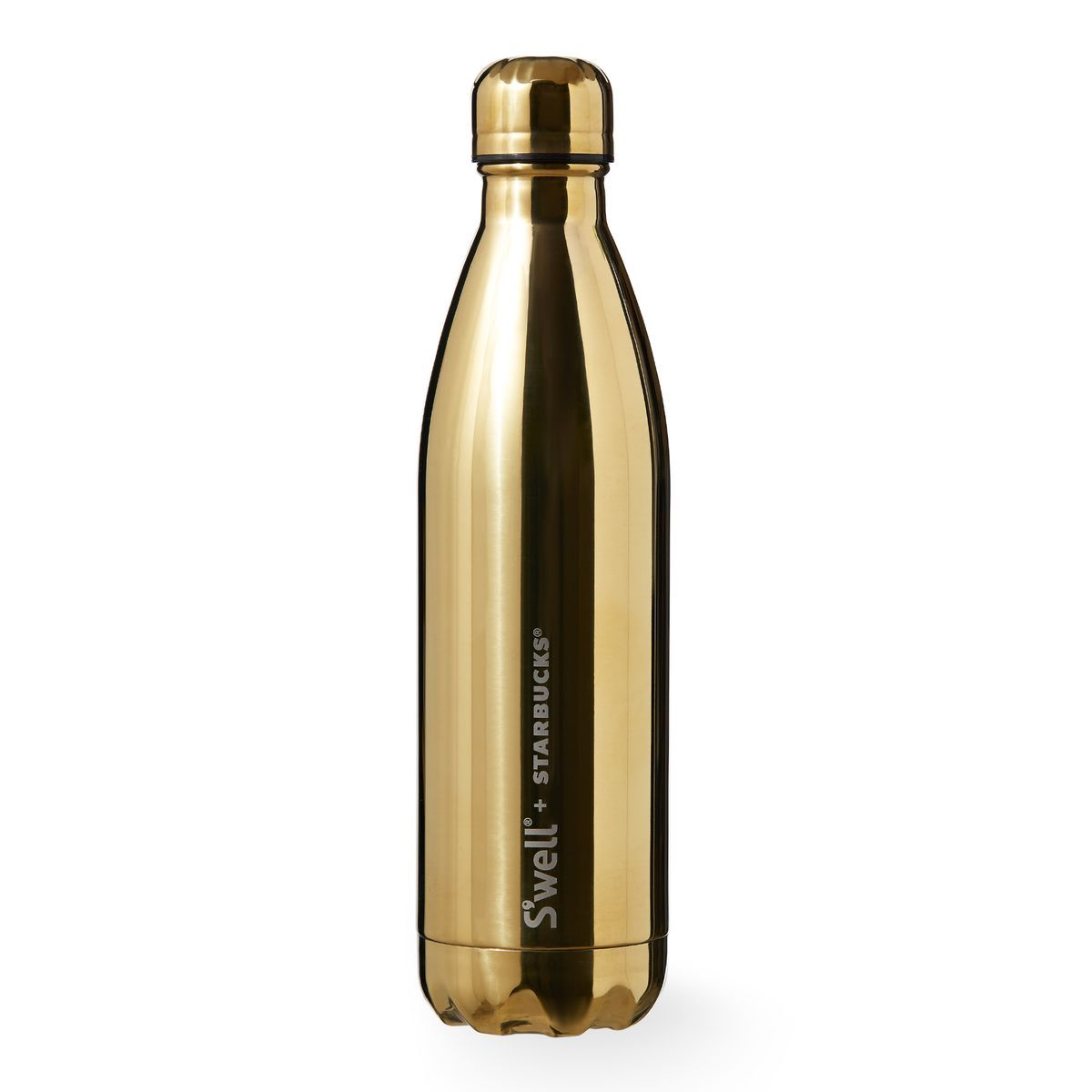 A Stainless Steel Water Bottle From S Well Sup Reg And Starbucks With Shiny Gold Translucent Finish Part Of The Brilliant Collection