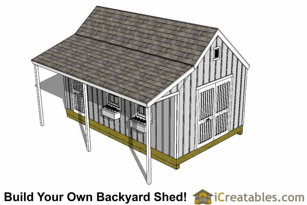 12x16 Cape Cod Garden Shed Plans With Porch Left Rear Shed With Porch Shed Plans Shed