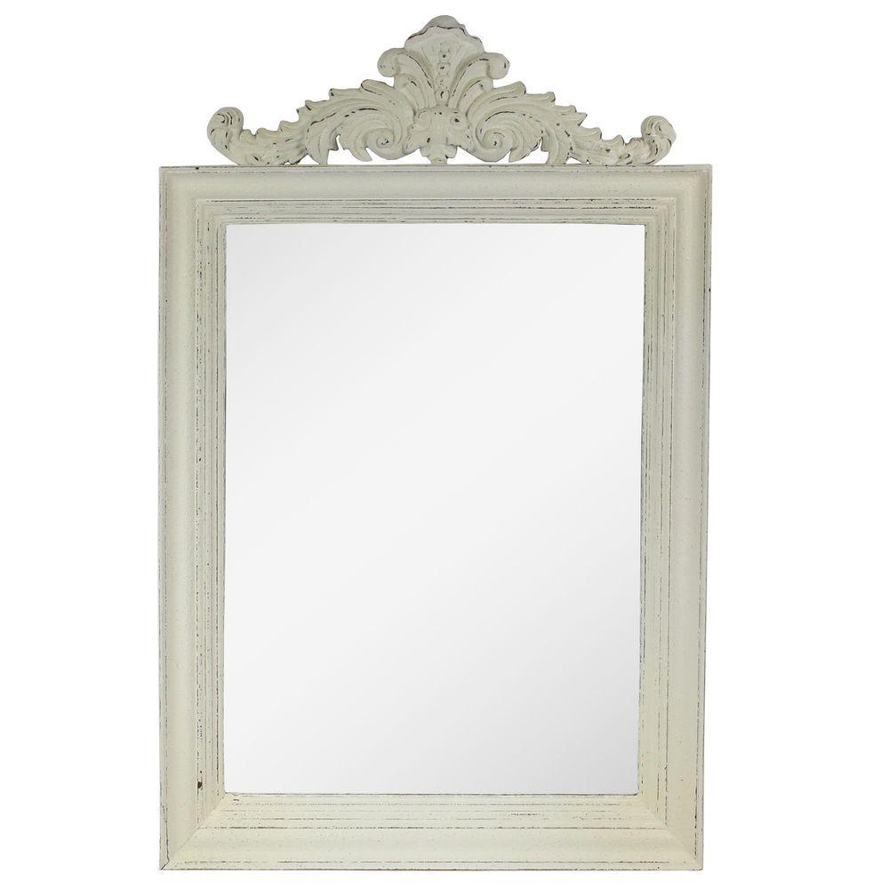 Badezimmerspiegel Barock Rahmen Holz Wandspiegel Spiegel Creme