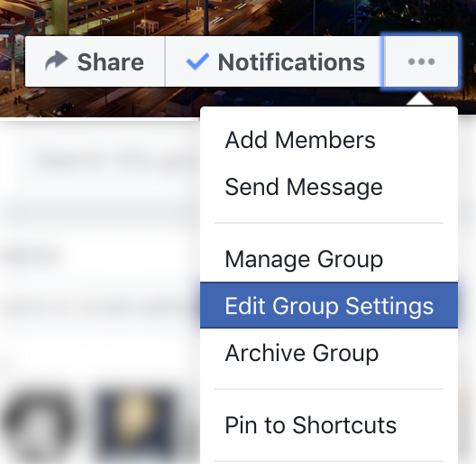 Change the name of your Facebook group, change the group