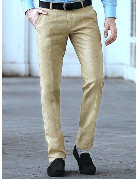 buy golden cream formal trouser online httpwww