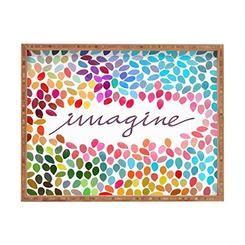 DENY Designs Garima Dhawan Imagine 1 Indoor/Outdoor Rectangular Tray, 17 x 22.5