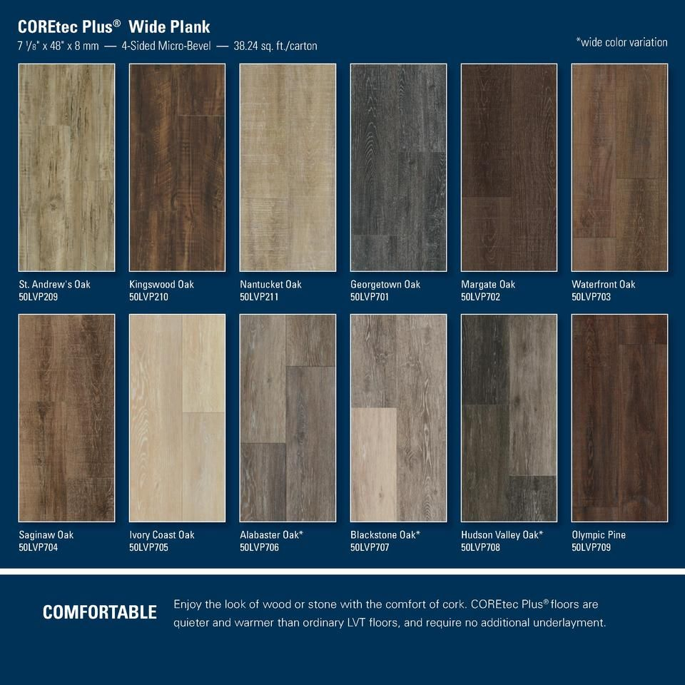 COREtec Plus Wide Plank wide color variation 7 1 8 x 48 x 8 mm 4 ...