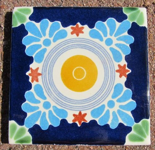 """90~MEXICAN TALAVERA POTTERY 4"""" tile Hand Painted Hand made + Venice Italy CD"""