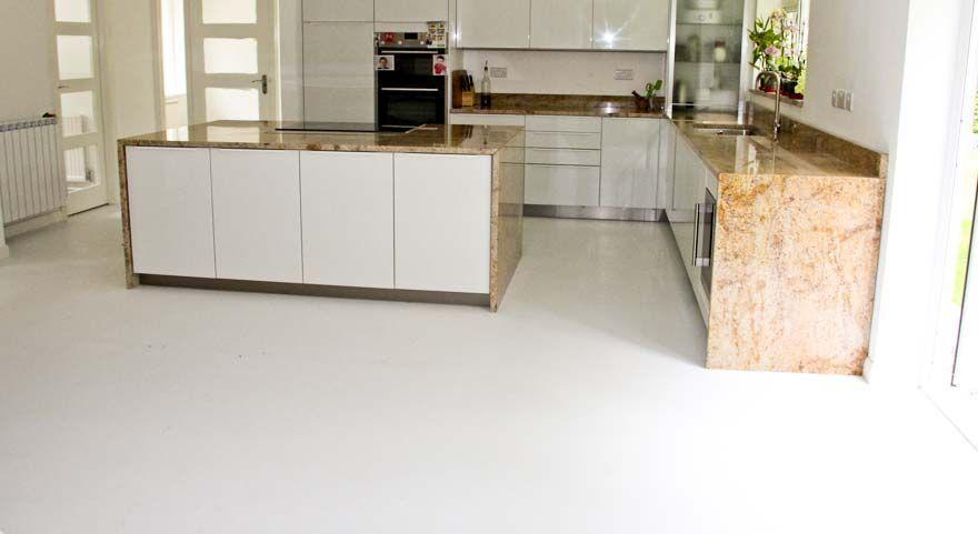 Vinyl white shiny kitchen floor | Kitchen vinyl flooring grey ...
