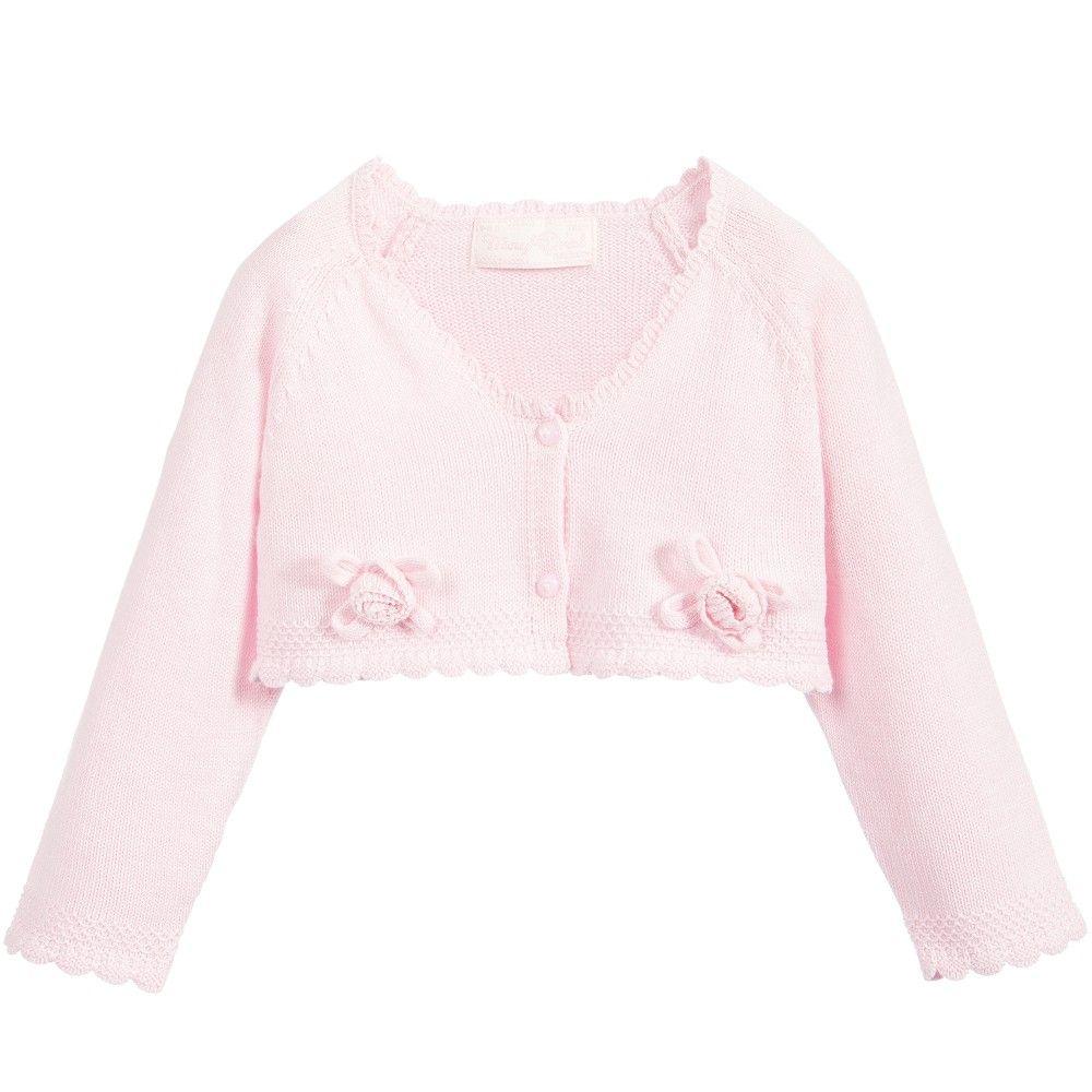 2b0cde58bb64 Mayoral Baby Girls Pale Pink Knitted Bolero Cardigan at ...