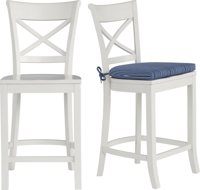 Vintner White Bar Stool And Cushion Crate And Barrel White Bar Stools Bar Stool Cushions Bar Stools