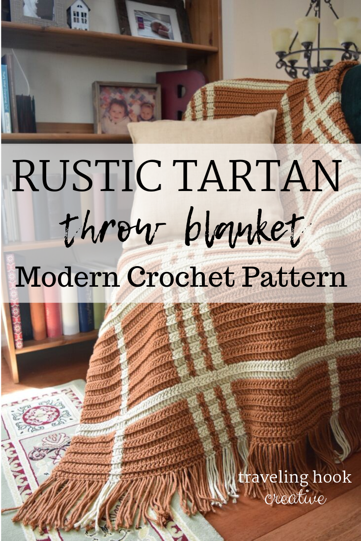 Rustic Tartan Throw Blanket Simple Plaid Chunky Bulky Graphgan Crochet Pattern Crochet Throw Pattern Modern Crochet Blanket Modern Crochet Patterns