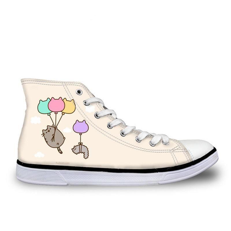 3a5e3cb0c06a3 FORUDESIGNS Cartoon Pusheen Cat Printing Spring Women Shoes Women's ...