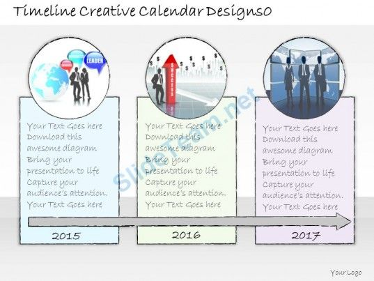 Business Ppt Diagram Timeline Creative Calendar Designs