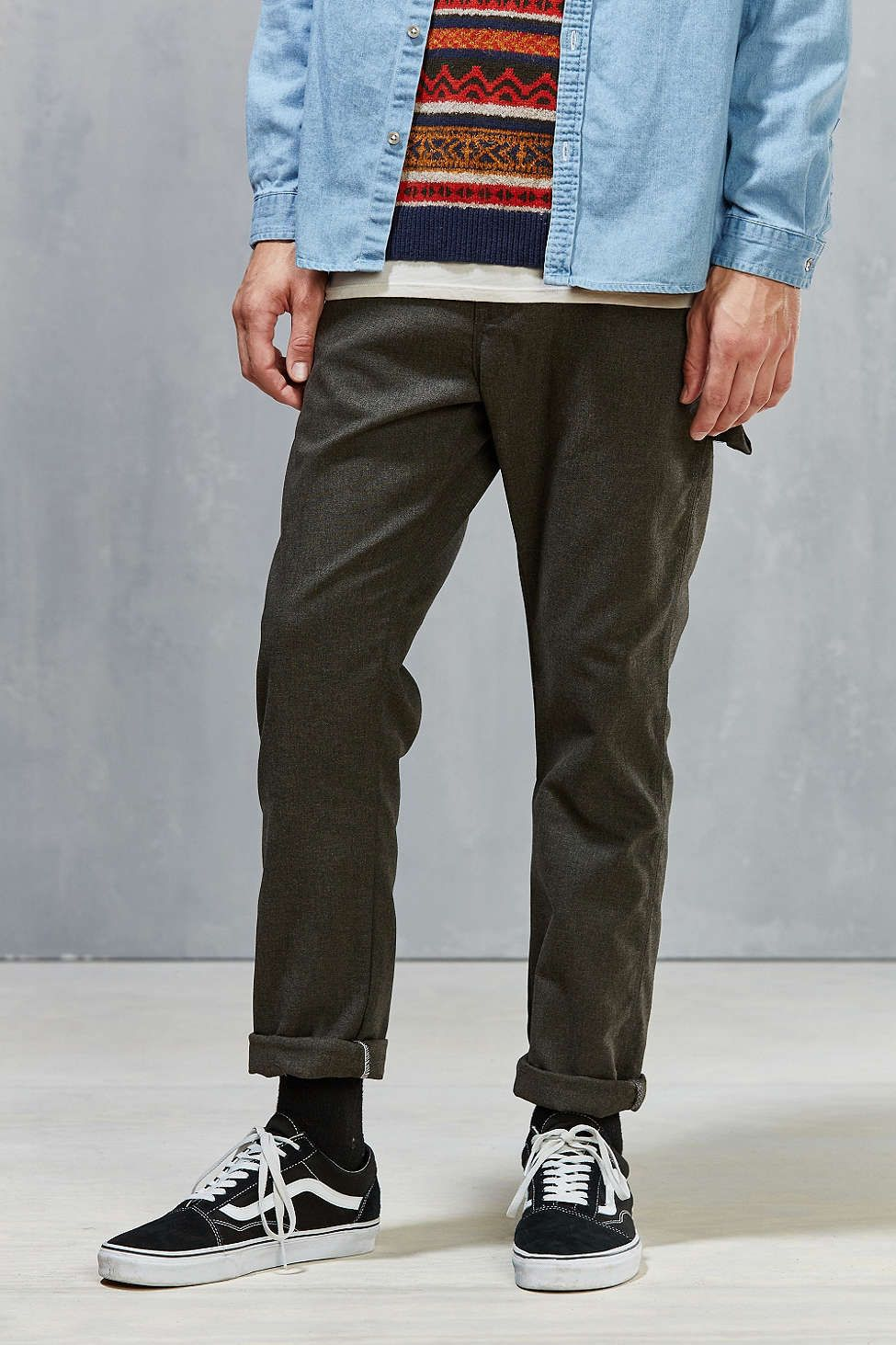 611dc0c9491 Dickies X UO Slim Straight Herringbone Carpenter Pant