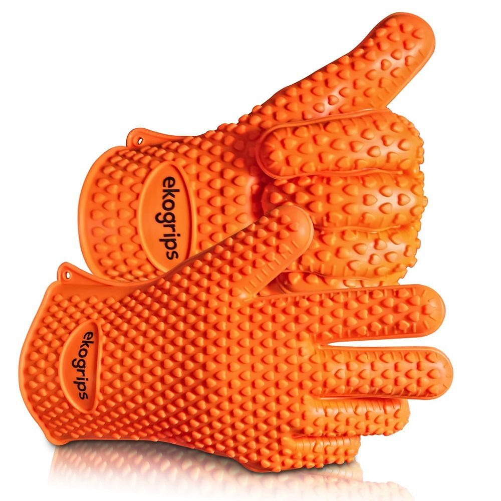 Highest Rated Heat Resistant Silicone Bbq Oven Mitts Gloves Ekogrips Cooking Jollygreenproducts