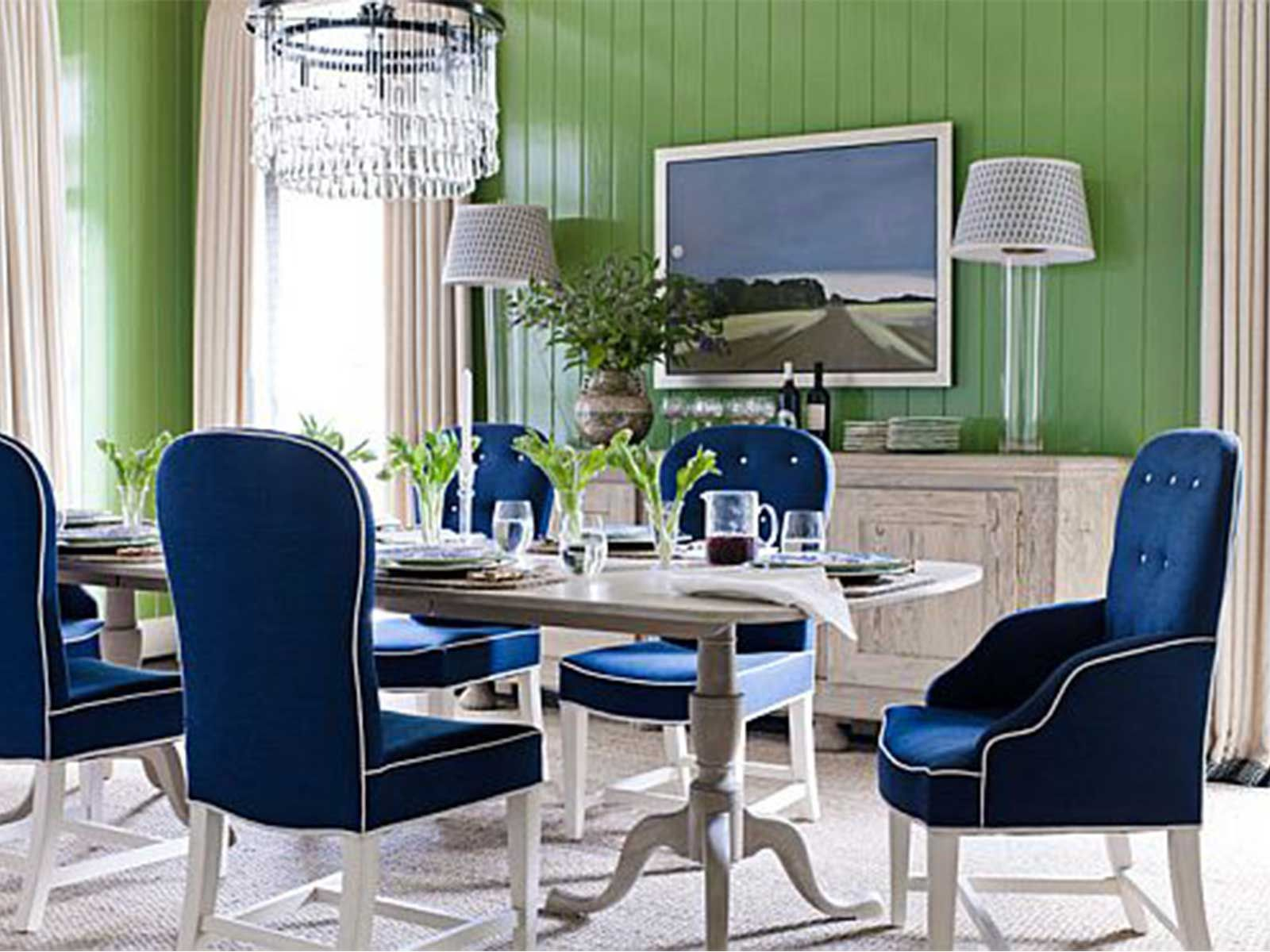 Illustration Of Blue Upholstered Dining Chairs  Perfect Dining Classy Blue Dining Room Ideas 2018