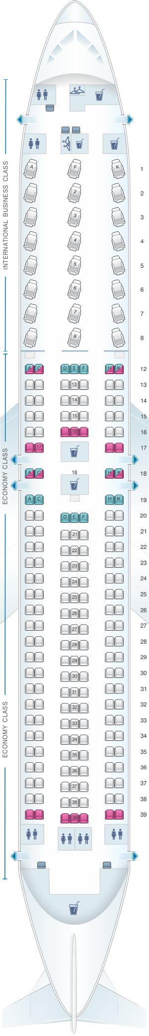 Seat map air canada boeing  er also airplane rh pinterest