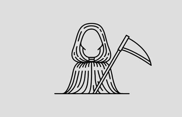 Ilustrações Minimalistas De ícones Do Terror E Do Suspense