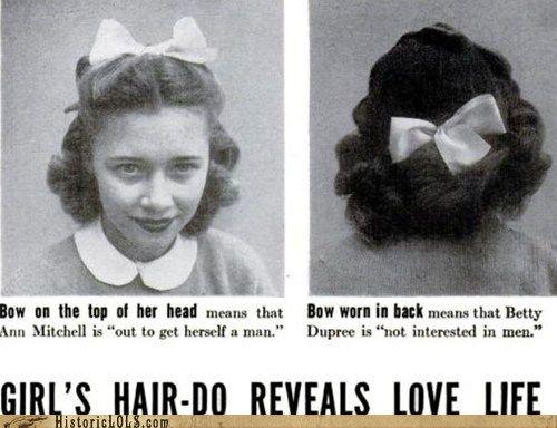 Girl's Hairdo Reveals Love Life