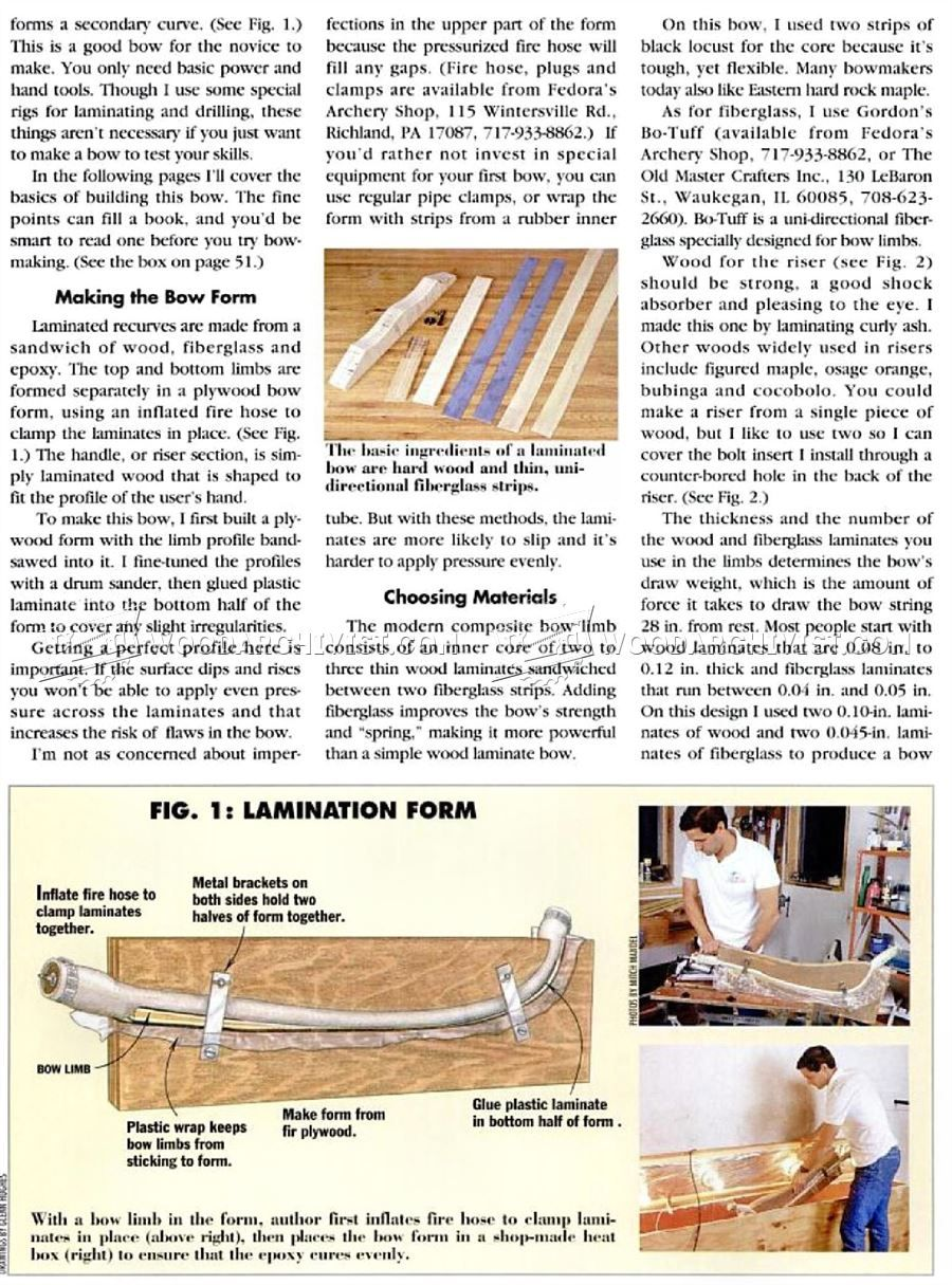 3216 Making Recurve Bow Woodworking Plans Bows Woodworking Plans How To Make Bows