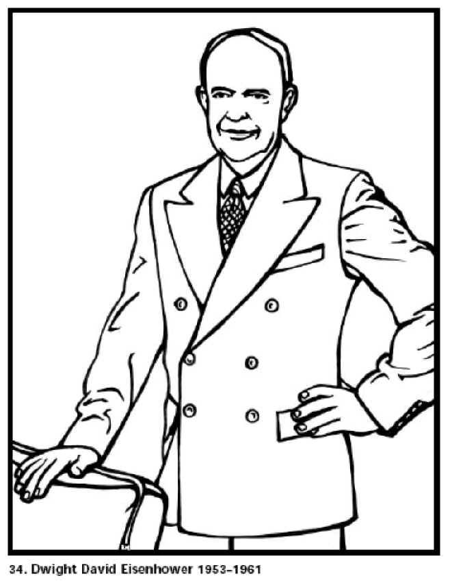 free coloring pages for kids dwight d eisenhower our 34th president click for
