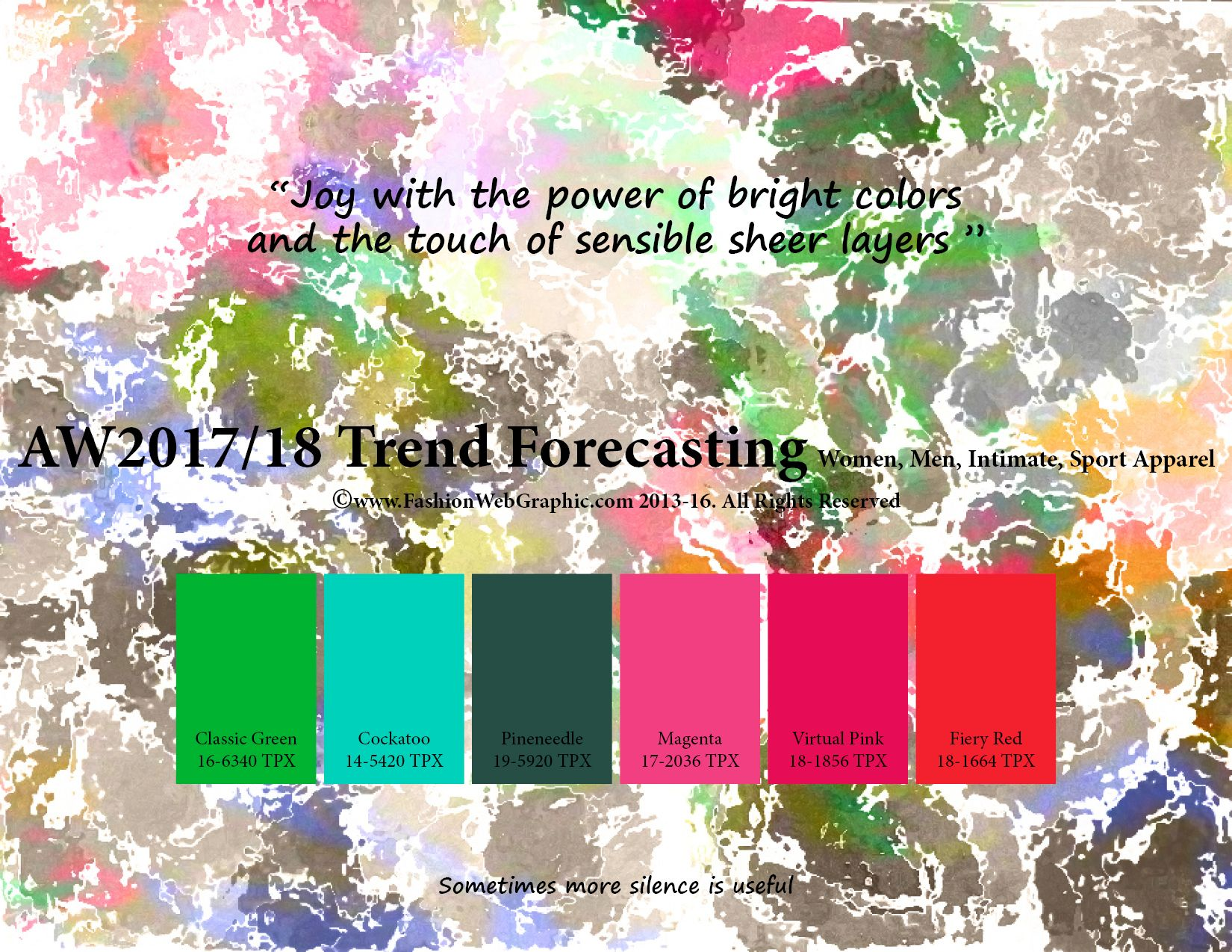 Autumn Winter 2017/2018 trend forecasting is a TREND/COLOR ...