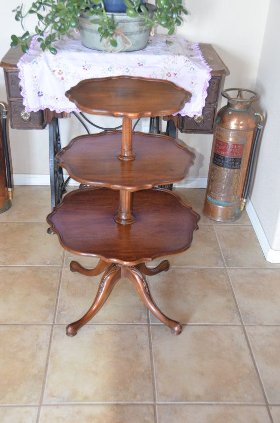 Imperial Furniture Mahogany 3 Tiered Table Furniture Table Mahogany