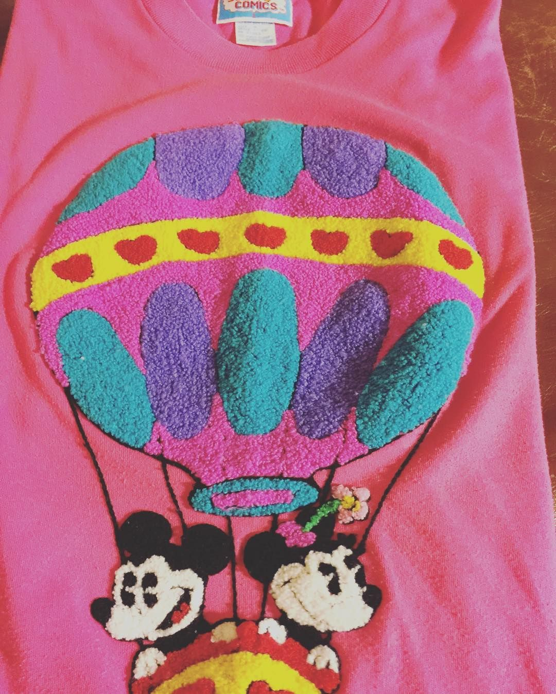 5aab4b01 Vintage Sunday Comics T-Shirt, Features Mickey and Minnie in a Hot Air  Balloon, Ladies Med #vintagedisney