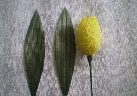 How to DIY Delicate Crepe Paper Tulips 7