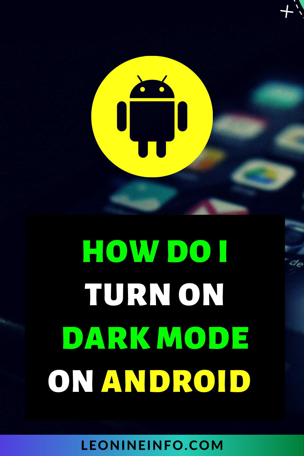 How do i turn on Dark mode on android? #android #darkmode