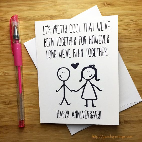 Funny Anniversary Card Happy For Him Love Annivers