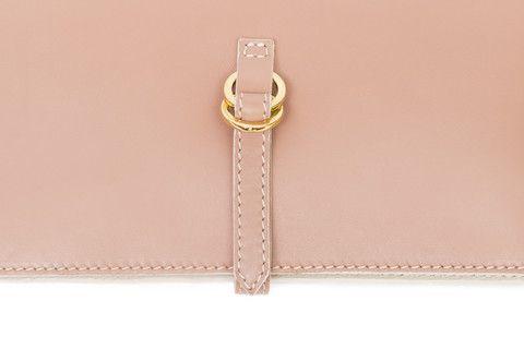 #Borsa in pelle rosa - Pink leather #handbag - #clutch #shoulderbag