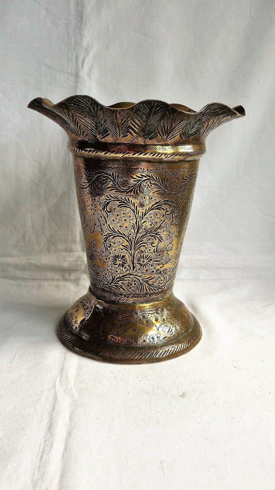 Indian Style Laiton jardinière plante pot ou vase Support