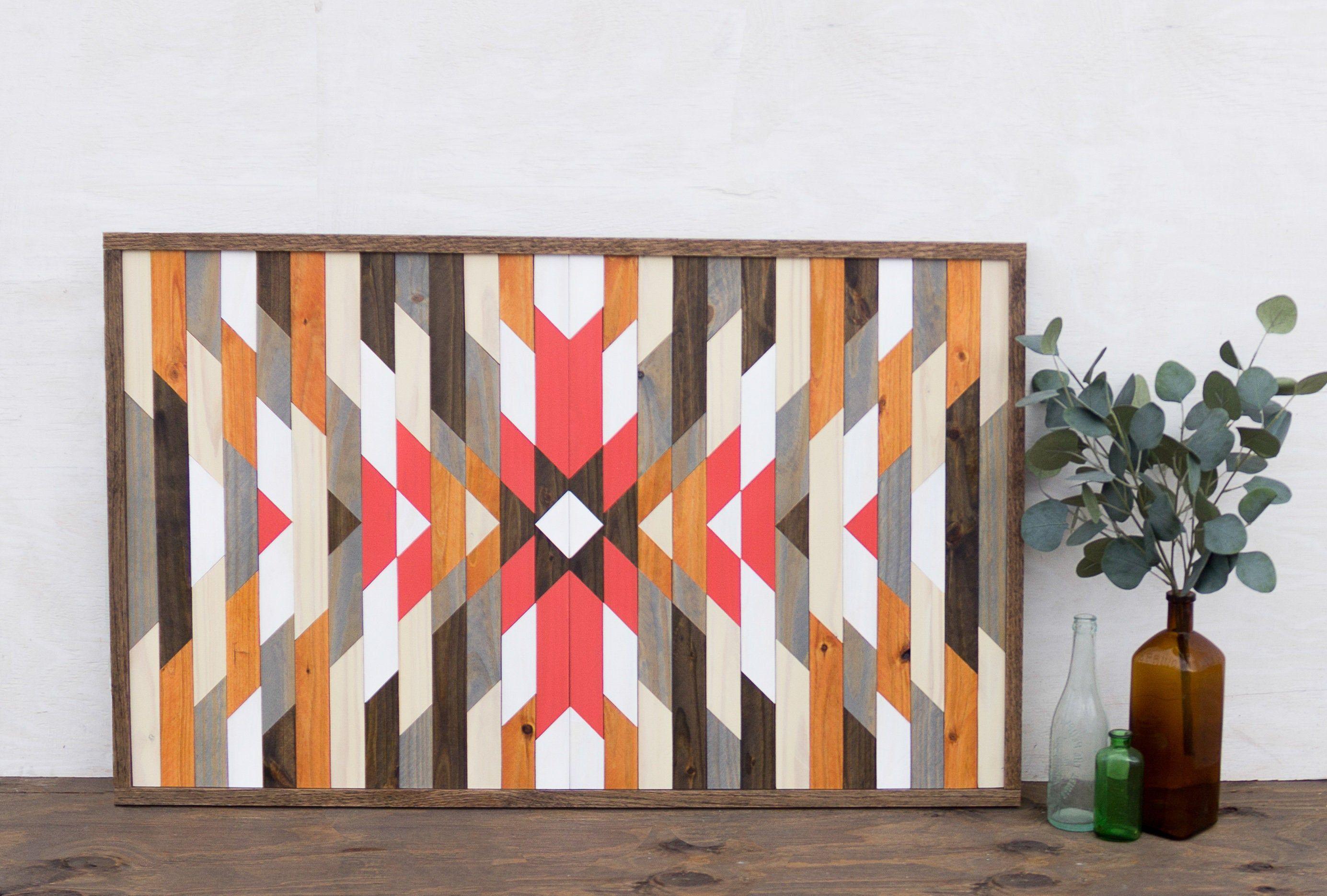 Geometric Wood Wall Art Wood Wall Art Rustic Wall Art Etsy Custom Wall Art Etsy Wall Art Mosaic Wall Art
