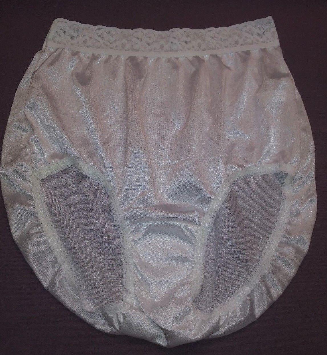 4 Pair Size 6 BLACK 100/% Nylon Panties Carole Brief Panty Made in the USA