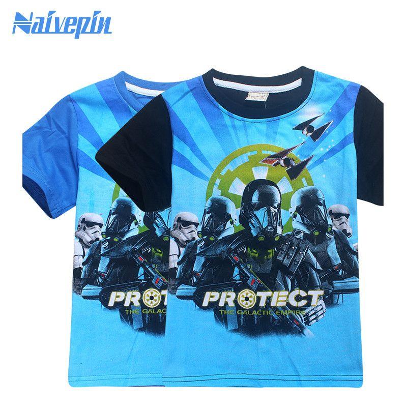 Kids Star Wars Rogue One Cartoon T Shirts Children Clothing Summer T-shirts for Boys Girls Tops Star War Clothes Boys Tees #Affiliate