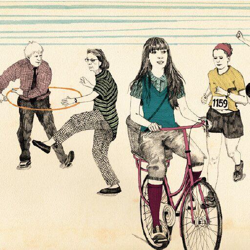 Rachel Green, Advocate Art Illustration Agency, Bicycle