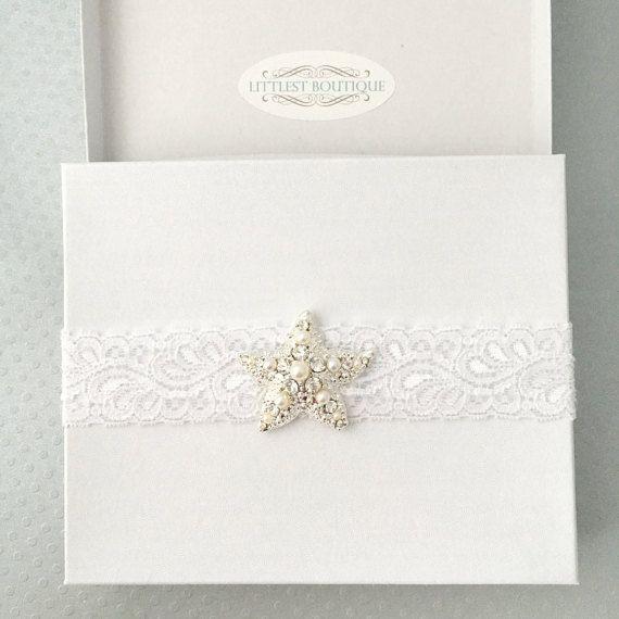 Wedding Garter Songs: Starfish Garter, Beach Wedding, Wedding Garter, Bridal