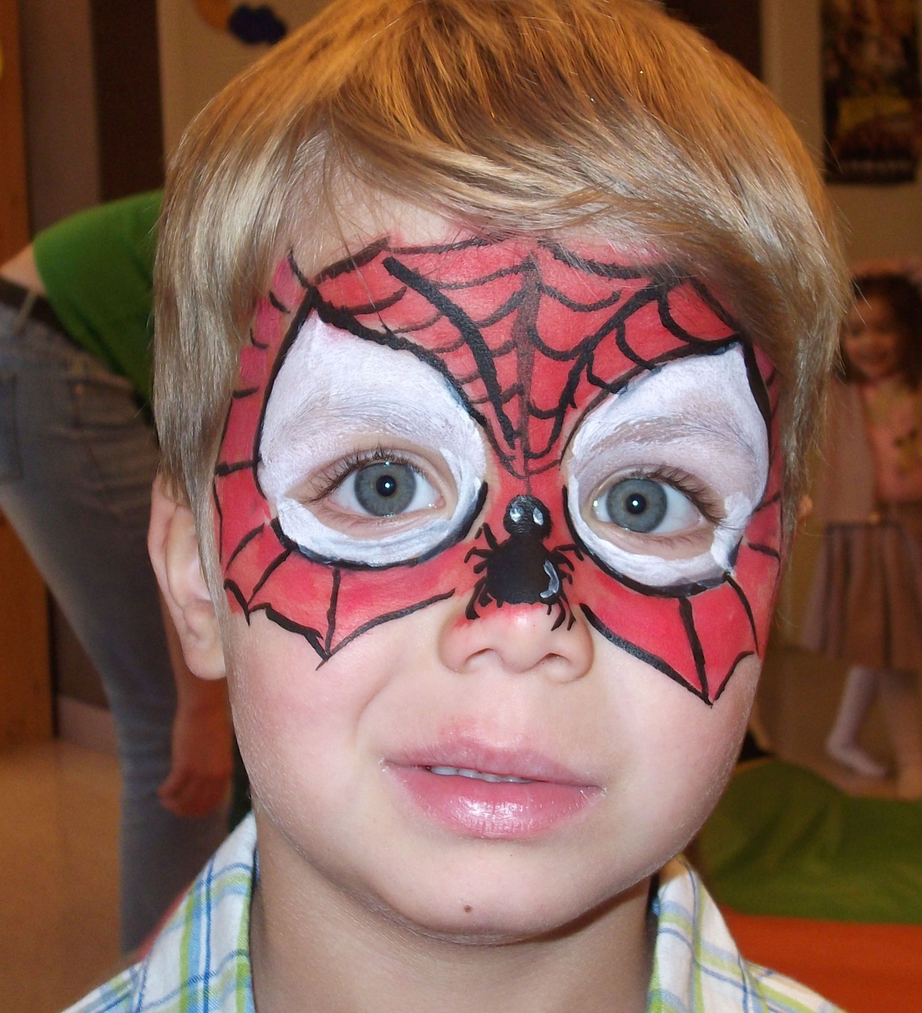 maquillage spiderman facile - Google Search | Costumes, Crafts, Painting
