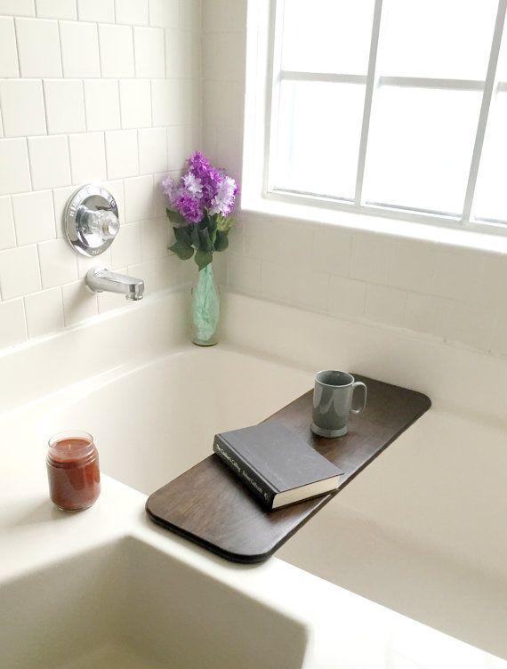 Rustic Bathtub Tray, Bath Board, Bathtub Caddy, Bath Tub Shelf, Bath ...
