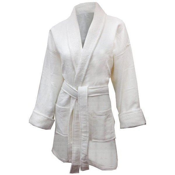 Aegean Apparel Knit Waffle Kimono Spa Robe (€23) ❤ liked on ...